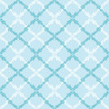 Blue Leaves Abstract Diamond Seamless Pattern Royalty Free Stock Images - 30565339