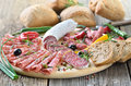 Salami Snack Royalty Free Stock Images - 30566289