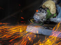 Grinding In A Steel Factory Stock Image - 30567441