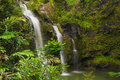 Upper Waikuni Falls On The Road To Hana, Mau Royalty Free Stock Image - 30579396