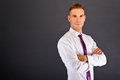 Man With Purple Tie Stock Images - 30596424