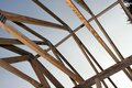 Wooden Roof Trusses In Home Royalty Free Stock Photo - 3067765