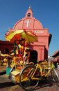 Malacca Tricycle & The Church Stock Photography - 3068642