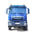 Blue Truck Isolated On White Royalty Free Stock Photo - 30600345