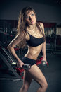 The Passion Woman In Sports Hall Stock Photography - 30602832