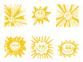 Sun Symbols Set. Royalty Free Stock Photo - 30603635
