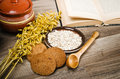 Oatmeal Cookies, Open Book Of Recipes Stock Images - 30606094