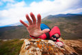 Climber S Hand Climberind On The Rock Stock Images - 30614794