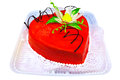 Cake In The Shape Of A Red Heart Royalty Free Stock Images - 30619799