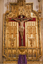Madrid - Jesus On The Cross. Side Altar From San Jeronimo El Real Royalty Free Stock Image - 30624246