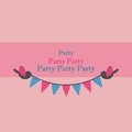 Birds Holding Bunting For Party Stock Photo - 30635670