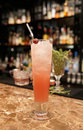 Long Drink Cocktail On Bar Counter Stock Images - 30638424