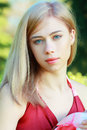 Blond Girl On A Park Stock Images - 30640034