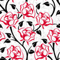 Vector Seamless Pattern With Roses. Stock Images - 30644924