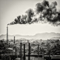 Huge Smoke Colums From An Oil Refinery Royalty Free Stock Photos - 30649258