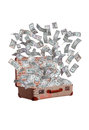 Dollars Flying Out Of Old Suitcase Royalty Free Stock Photo - 30650895