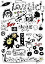 Doodle Music Stock Image - 30659401