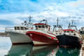 Three Fishing Boats Royalty Free Stock Image - 30659716