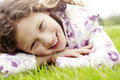 Girl On Grass In Park. Royalty Free Stock Photos - 30664998
