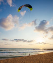 Young Woman Flying A Kite At The Seabeach Royalty Free Stock Photos - 30666648