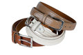 Stack Pile Of Leather Belts Royalty Free Stock Photo - 30668855