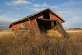 Abandoned Old Shed In Grassy Field In Fall Stock Photo - 30672990