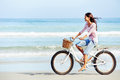 Beach Bicycle Woman Stock Photo - 30689810