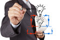 Engineer Hand Draws Electrical Diagram Stock Image - 30691081