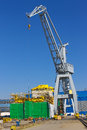 Cranes And Ship Stock Photography - 30697962