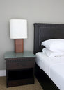 Table Lamp On Bedroom Royalty Free Stock Photography - 30700537