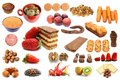 Collection Of Different Types Of Food Stock Photos - 30713853