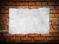 Old Paper On Brickwall Stock Photography - 30720722