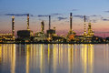 Refinery Plant Area At Twilight Royalty Free Stock Photos - 30725788
