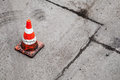 Red And White Striped Warning Cone Stock Image - 30728301