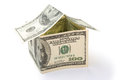 House Made Of US Dollars Stock Photos - 30739853