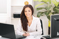 Business Woman In Office Royalty Free Stock Photos - 30743438