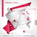 Origami Web Template Stock Image - 30744211