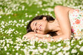 Happy Woman Relaxing On Nature Royalty Free Stock Photos - 30747638