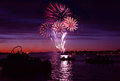 Firework On River Stock Photography - 30748352