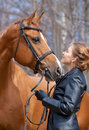 Girl And Horse Stock Photo - 30748780