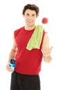 Caucasion Male Just After A Workout Isolated On White Stock Image - 30749921