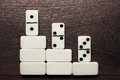 White Domino Pieces Win Concept Background Stock Images - 30751314