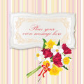 Gift Card With Flower Bouquet. Stock Photography - 30751672