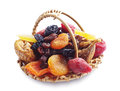 Different Dried Fruits In A Basket Stock Photos - 30753433