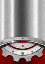 Red And Metal Background With Gear Royalty Free Stock Photos - 30774538