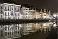 Reflections Of Medieval Buildings In A Canal In Ghent Stock Images - 30776454