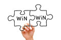 Win Win Puzzle Concept Royalty Free Stock Photo - 30788855