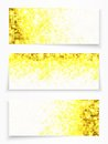 Set Of 3 Banners With Yellow Circles Royalty Free Stock Photos - 30793588