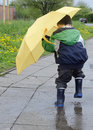 Child In Puddle Stock Photo - 30796890