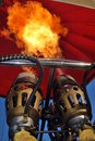 Hot Air Balloon Flame Closeup Royalty Free Stock Photography - 30801807